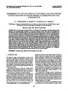 assessment of the influence of different cooling system ... - Springer Link