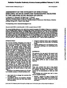 assessment of the integrity of structural shielding of