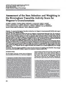 Assessment of the Item Selection and Weighting in ... - Semantic Scholar