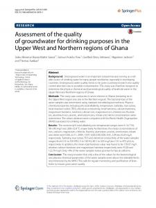 Assessment of the quality of groundwater for drinking ... - Springer Link