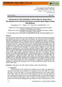 Assessment of the Suitability of Some Sites for ...