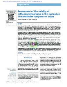 Assessment of the validity of orthopantomographs