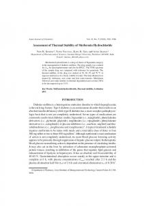 Assessment of Thermal Stability of Metformin ...
