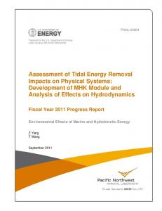Assessment of Tidal Energy Removal Impacts on Physical Systems ...