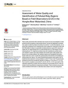Assessment of Water Quality and Identification of Polluted Risky ...