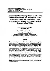 Assessment of Water Quality of Some Selected Sites ...