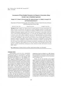 Assessment of Water Quality Parameters in Mangrove Ecosystems ...