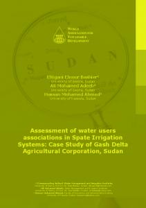 Assessment of water users associations in Spate Irrigation Systems ...