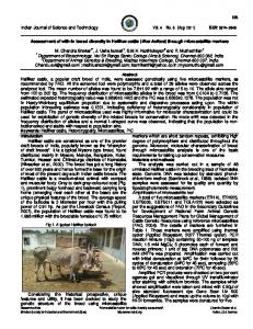 Assessment of with-in breed diversity in Hallikar cattle (Bos indicus ...