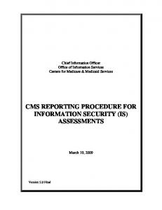 Assessment Reporting Procedure - Centers for Medicare & Medicaid ...