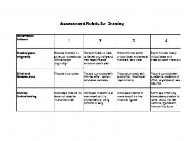 Assessment Rubric for Drawing - Learn NC