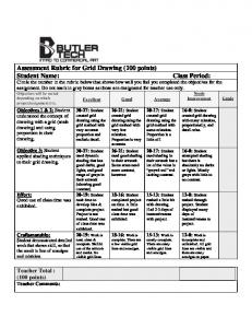 Assessment Rubric for Grid Drawing (100 points) Student Name ...
