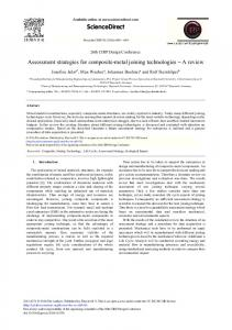 Assessment Strategies for Composite-metal Joining Technologies - Core