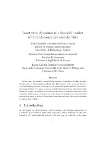 Asset price dynamics in a financial market with ...