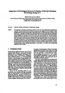 Assignment of Orthologous Genes by Utilization of ... - Semantic Scholar