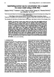 Assimilating summer sea-ice concentration into a coupled ... - ePIC - AWI