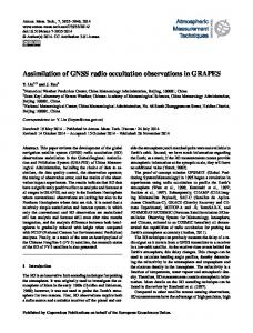 Assimilation of GNSS radio occultation ... - Semantic Scholar