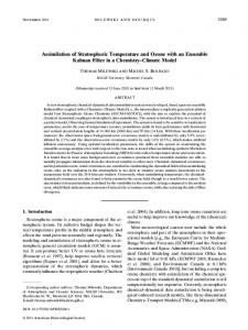 Assimilation of Stratospheric Temperature and Ozone with an ...