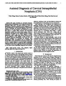 Assisted Diagnosis of Cervical Intraepithelial Neoplasia (CIN)