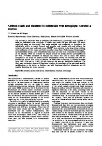 Assisted reach and transfers in individuals with tetraplegia - Nature
