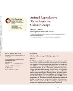 Assisted Reproductive Technologies and Culture