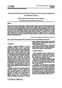 Associated Minerals and their Influence on the Optical Properties of ...