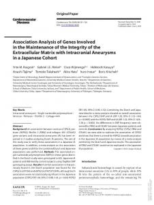 Association Analysis of Genes Involved in the