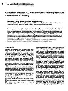 Association Between A2a Receptor Gene Polymorphisms ... - CiteSeerX