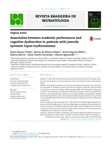 Association between academic performance and cognitive dysfunction ...