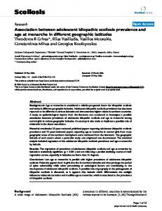 Association between adolescent idiopathic scoliosis prevalence and ...