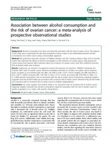 Association between alcohol consumption and the ... - Semantic Scholar