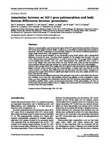 Association between an IGF-I gene polymorphism and body fatness ...