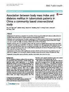 Association between body mass index and diabetes mellitus in ...