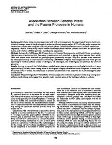 Association Between Caffeine Intake and the Plasma Proteome in ...