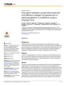 Association between carotid atherosclerosis and different ... - PLOS