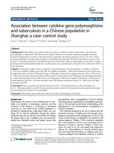 Association between cytokine gene polymorphisms and tuberculosis ...