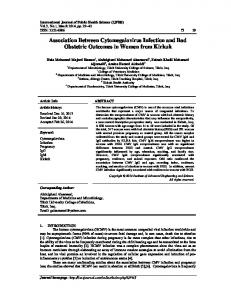 Association Between Cytomegalovirus Infection and ...