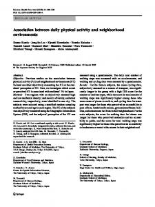 Association between daily physical activity and ... - Springer Link