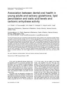 Association between dental-oral health in young adults and salivary ...