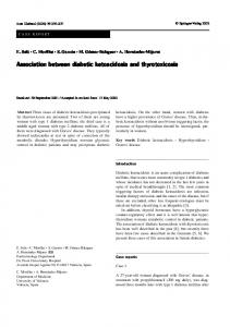Association between diabetic ketoacidosis and ... - Springer Link