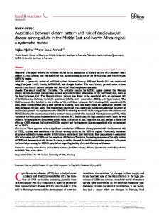 Association between dietary pattern and risk of cardiovascular disease ...