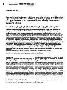 Association between dietary protein intake and the risk of ... - Nature
