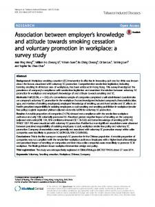 Association between employer's knowledge and attitude towards ...