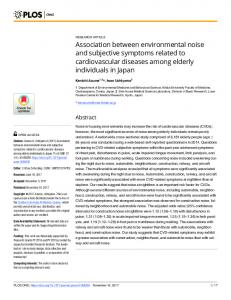 Association between environmental noise and subjective symptoms