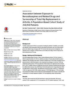 Association between Exposure to Benzodiazepines and Related ...