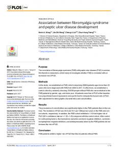 Association between fibromyalgia syndrome and