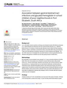 Association between gastrointestinal tract infections and ... - PLOS