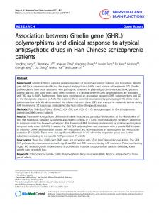 Association between Ghrelin gene (GHRL) polymorphisms and ...
