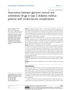 association between glycemic control and antidiabetic drugs in type 2
