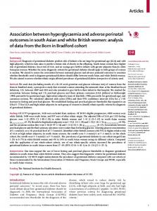 Association between hyperglycaemia and adverse